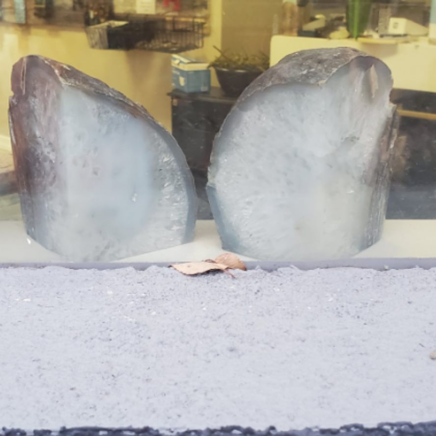 Bookends Gray Agate (5.23#)