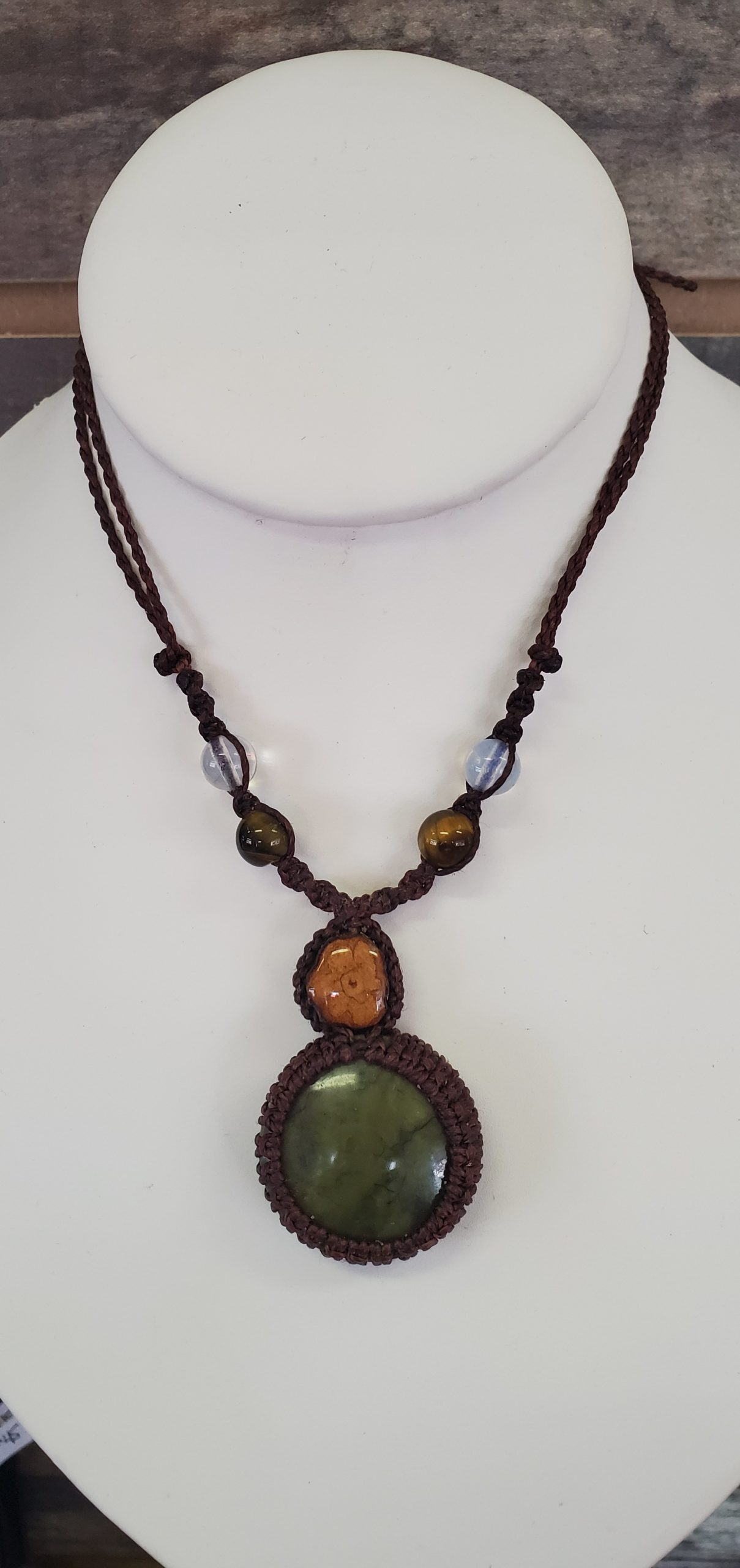 Aya & Moss Agate Necklace