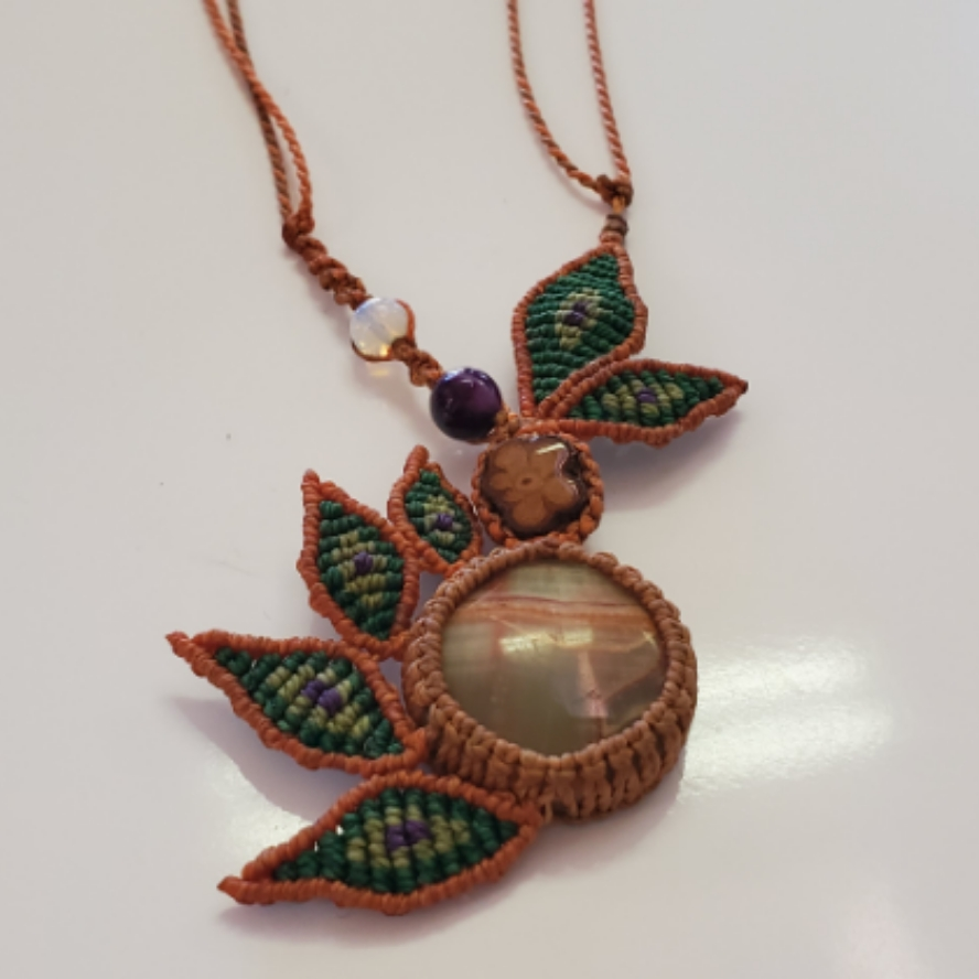 Aya with Picture Jasper Amethyst And Opalite