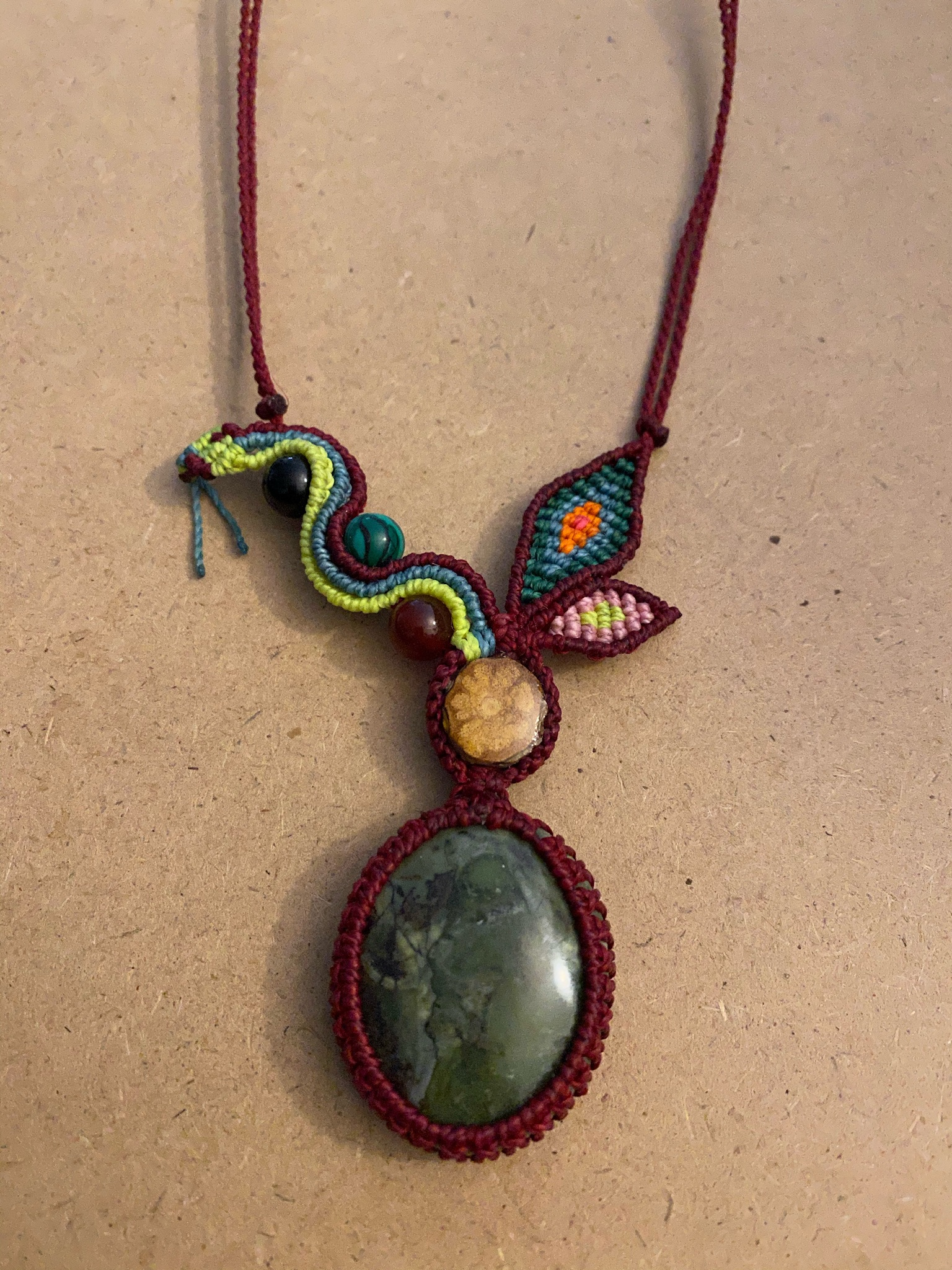 Aya & Serpentine Oval with Green Serpent