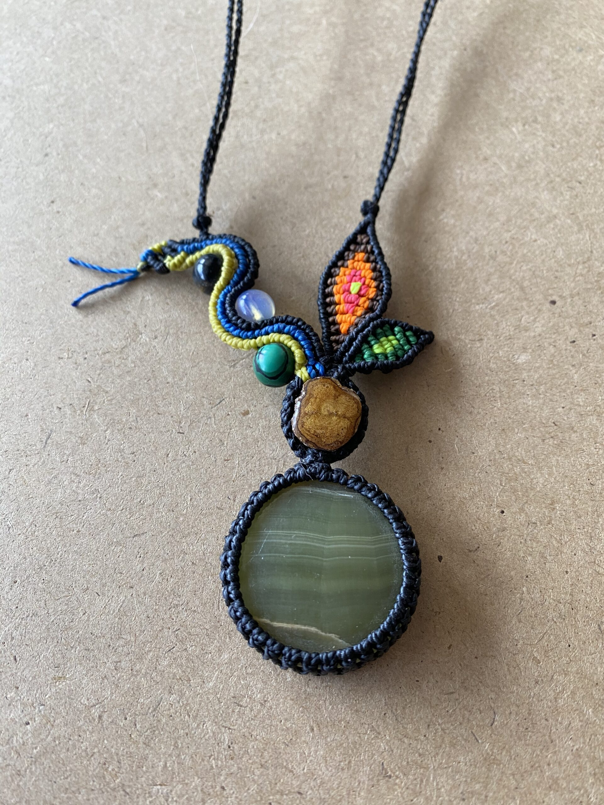 Aya & Green Calcite with Serpent